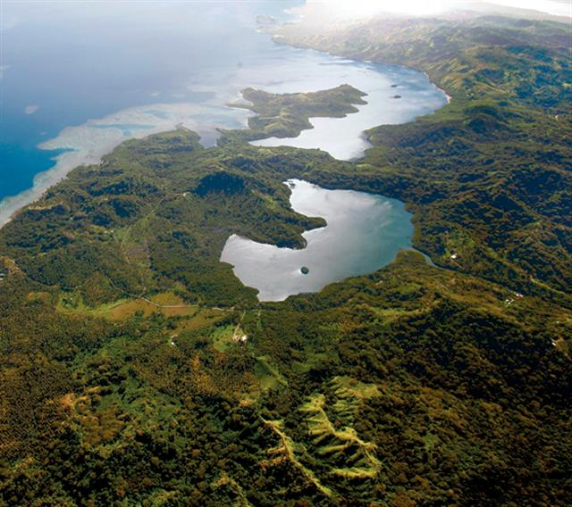 Aerial View, Salt Lake and Natewa Bay, Vanua Levu, Fiji - Click for larger image (http://jamesmcgillis.com)